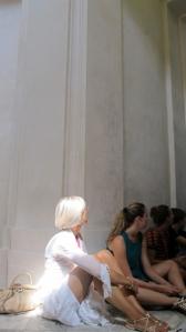 Fanni Fazekas_ nella chiesa sconsacrata_agosto 2012